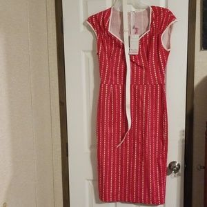 Pinup Couture Dresses - NWT Natasha wiggle dress red pinstripe ❤ L
